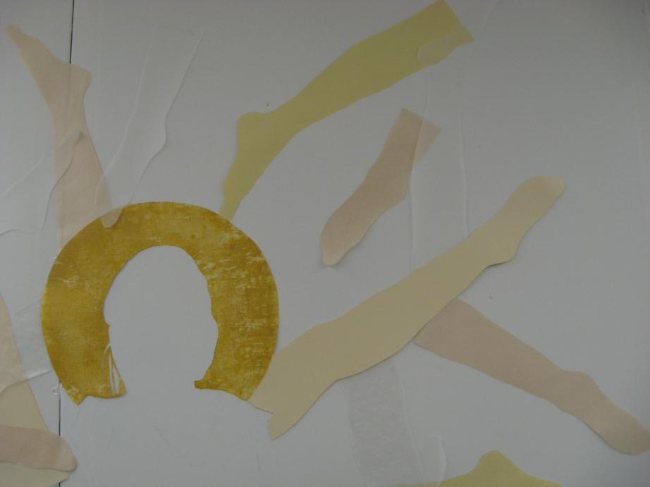 image of cut paper installation (artwork)