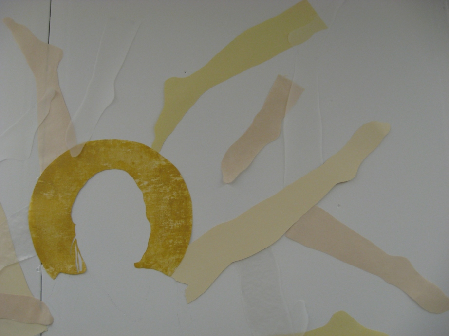 image of cut paper installation (artwork)